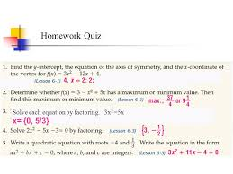 2 solve each equation by factoring 3x 2 5x x 0 5 3 homework quiz