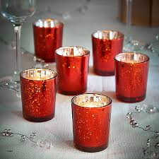 red mercury glass candle holders new vonhaus vintage glass led tea light candles holder set of 6