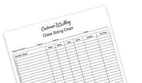 Paper Moon Clothing Size Chart Sizing Chart Costume Gallery