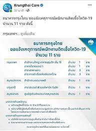 แบงก์กรุงไทย' แจ้งพนักงานติดเชื้อโควิดเพิ่มอีก 11 คนทั้งสำนักงานใหญ่-ปริมณฑล