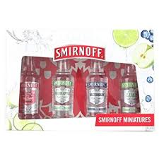 smirnoff vodka gift set original lime blueberry and green apple vodka pack