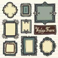 vine styles frames hand drawn vector