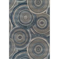 5 x 7 medium indigo indoor outdoor rug st croix