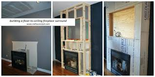 a how to for building fireplace surround