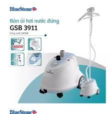 Bàn ủi hơi nước đứng BlueStone GSB-3911 1800W 1.6L phun hơi 30g/phút 6 chế  độ giá treo xoay 360 độ và móc treo gập được - Bảo hành 2 năm - Hàng