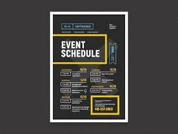 Design Schedule Template Schedule Event Poster Template Event Poster Template