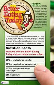 Vending Machine Nutrition Facts Fascinating BET Actions Taken