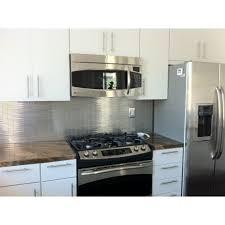 kitchen backsplash stainless steel tiles: shop x metal stick brick tiles in matte silver stainless steel at tilebarcom