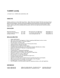 Image Gallery of Marvelous Design Ideas Resumes By Tammy 16 Poker Dealer  Resume Objective