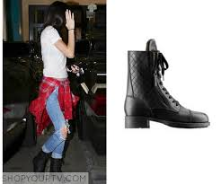KUWTK: Season 9 Episode 10 Kendall's Black Quilted Leather Boots ... & They are the Chanel Quilted Biker Boots. Sold Out. Adamdwight.com