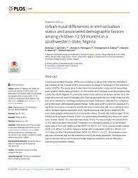 Routine Immunization Schedule For Children In Nigeria