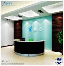 half round reception desk with 70mm partition curved reception desk
