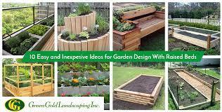 garden design with raised beds