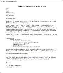 Solicitation Latter Sample Solicitation Letter For Food Sponsorship Free Event