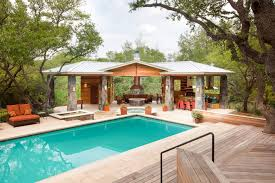 Delightful House Plans With Pools And Outdoor Kitchens Part   5: Pool House  Designs With