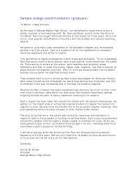 Sample Academic Recommendation Letter Sample Academic Reference Letter Graduate School 14