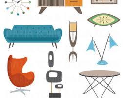 modern contemporary furniture retro. retro furniture clipart setmidcentury modern design atomic age lamp sofa contemporary