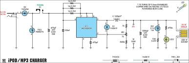 smartphone pda mp3 music player interface circuit diagrams ipod usb mp3 charger using mc34063 switchmode regulator