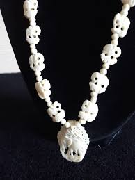 exclusive antique ivory necklace with elephant pendant