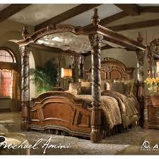 california king bed. Michael Amini Villa Valencia California King Size Canopy Poster Bed By AICO