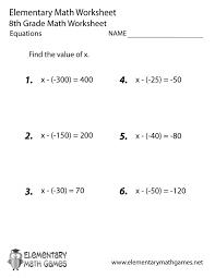 Math Worksheets For 8th Grade Pre Algebra Printable Problems Saxon ...
