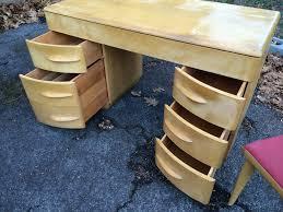 heywood wakefield desk open drawers