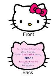 Hello Kitty Party Invitation Hello Kitty Birthday Invitation Card Major Magdalene