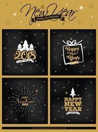 4 Free New Year Greeting Card Templates | Dribbble Graphics