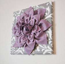 wall art lilac purple dahlia on gray and white damask abstract canvas wall il fullxfull