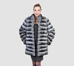 chinchilla fur long jacket