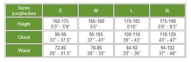 Hit Air Size Chart Hit Air Lv Air Vest