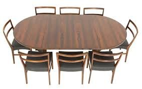 a rosewood extending danish dining table model hm 2065