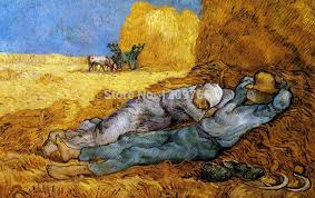 art van gogh farmers tools wheat sleep 24x38inch posters printed silk decorative wall painting art wall sticker painting in painting calligraphy from