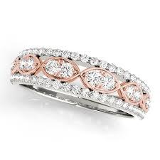 infinity diamond wedding band. two tone infinity diamond wedding ring band i
