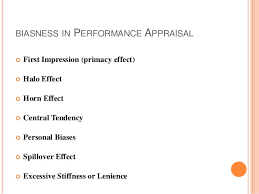 performance appraisal 17 biasness in performance appraisal
