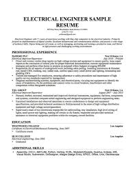 Electrical Engineer Sample Resume Download Sample Resume Format For Electrical Engineer Diplomatic 8