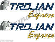 trojan boat parts two trojan boat remastered plate decals express