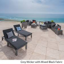 christopher knight home puerta grey outdoor wicker sofa set. Puerta Outdoor 13-piece Wicker Patio Set With Cushions By Christopher Knight Home - Free Shipping Today Overstock 21077207 Grey Sofa