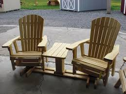 amish rocker glider with table
