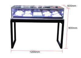 simple countertop jewelry display cases black metal glass display cases
