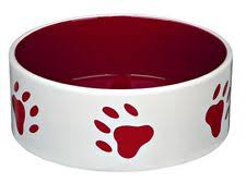 trixie quality ceramic dog bowls paw print red food water bowl 3 sizes large ceramic dog bowls w21