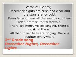 December Nights December Lights Song Ppt Winter Concert 2011 Powerpoint Presentation Free