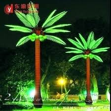palm tree outdoor light solar led outdoor light up artificial coconut palm tree with clear lights