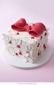 holly gift box cake the cake blog