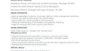Entry Level Phlebotomist Resume Entry Level Resume Objective Fresh