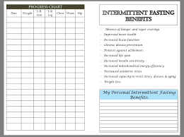 Intermittent Fasting Chart Intermittent Fasting Diet And Fitness Planner