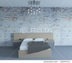 old brick wall loft interior bedroom