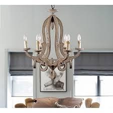parrot uncle farmhouse 6 light callista chandelier antique wood