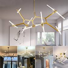 14 heads modern branch chandelier metal pendant light industrial ceiling lamp