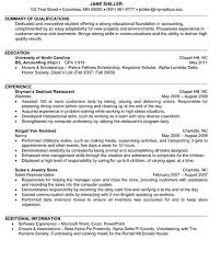 Junior Accounting Resume Sample